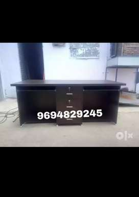 New dark shade double seater office table