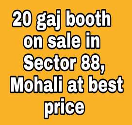 20 gaj Booth on sale in Sector 88, Mohali