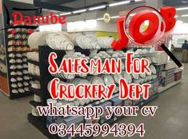 Required salesmen for crockery department