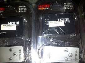 HDMI Switch 3in1 with Remote RM-501 Best Quality Product