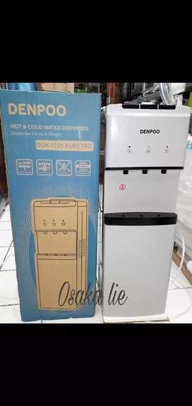 Dispenser Denpoo 3 kran lowwatt 190 watt/Galon atas
