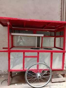 Dijual gerobak bubur ayam kayu merante galo baru dipake 2bulan