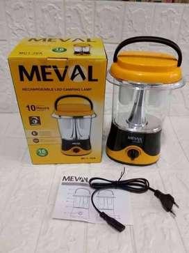 PROMO FREE ANTAR-LAMPU CAMPING KEMAH MEVAL MC1-16A CAHAYA PUTIH CAS