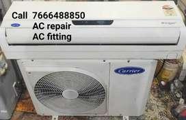 AC repair AC fitting AC service AC gas charging AC compressor repair