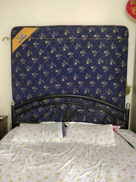 wrought iron double bed without box with sleepwell matress