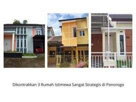 Dikontrakkan 3 Rumah di Lokasi Strategis Ponorogo