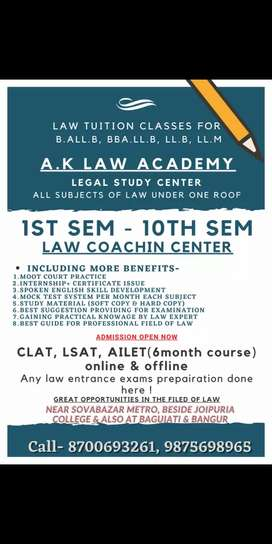 Law tuition online and offline