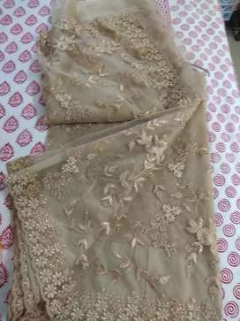 Beautiful sari with beads and embroidery. Party wear