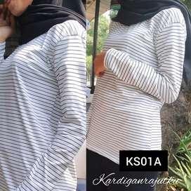 Kaos salur stripe lengan panjang - KS01A