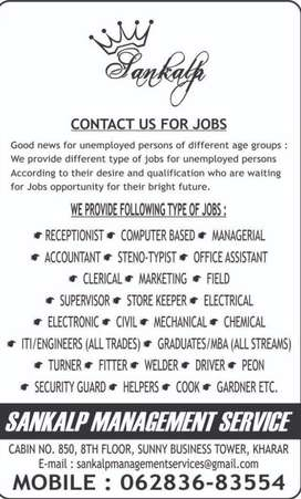 Jobs for unemployed people in preferred location and good salary