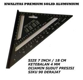 speed square penggaris siku segitiga 7 inchi wood working premium