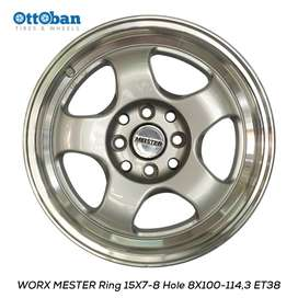 Velg Work Meister R16x7-8 h4x114.3 ET 38-32 Untuk Mobil Mazda2,Mobilio