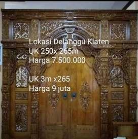 Pintu kusen gebyok kayu jati ukiran