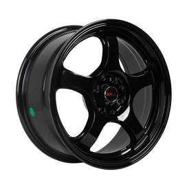 Velg Mobil Type THREE 56103 HSR R16X7 H8X100-114,3 ET35 BLACK