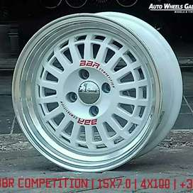 "Velg Mobil JF LUXURY BBR COMPETITION 15"" 4X100"