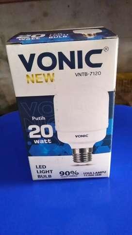 PROMO-BOHLAM LAMPU RUMAHAN VONIC LED NYALA PUTIH 20WATT-BARU