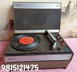 Philips record player and radios.