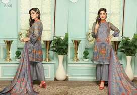 Lawn Suit Reshma Embroidered Lawn Collection 2020 By Malhhar Textile