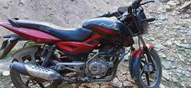 Pulsar150 black and red