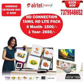 AIRTEL DTH TAMIL PACKAGE DEAL TATASKY TATA SKY SUNTV DISH LOWEST PRICE