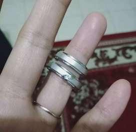 CINCIN COUPLE WEDDING RING PERAK 925 LAPIS EMAS PUTIH