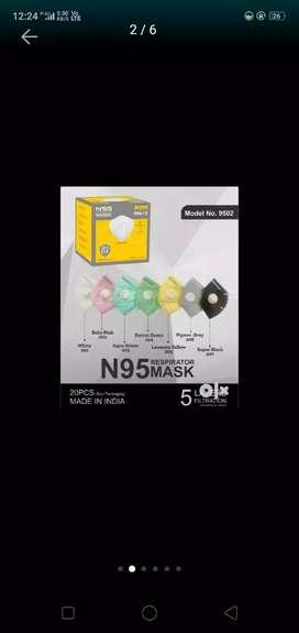 N 95 Masks for sale per mask 30 rs 2 mask  60 rs