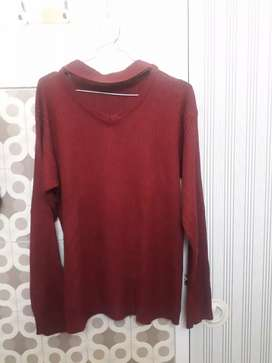 Baju rajut preloved maroon ukuran L