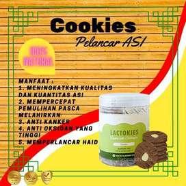 Lactokies Cookies Pelancar ASI Booster Torbangun Herbal Cemilan