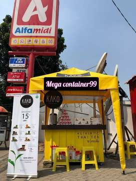 Pembuatan booth Container bazar.booth angkringan booth minuman booth,