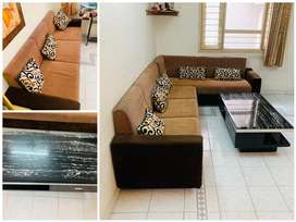 sofa set  good condition ( 3+3+3) with center table