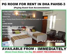 Awesome Spacious Furnished Rooms/Paying Guest