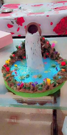Water Falling Decoration Piece