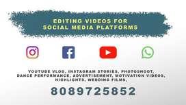 EDITING VIDEOS FOR SOCIAL MEDIA PLATFORM