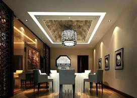 Gypsum board celling and partitionworks