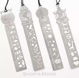 Cash on delivery - Steel bookmark with stencil marker book reading