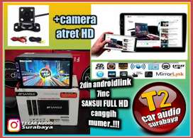 READY STOCK 2DIN SANSUI ANDROIDLINK 7INC FULL HD+CAMERA ATRET HD MUMER