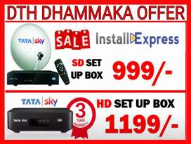 [Tatasky Offer]Dth@999 Only.Airtel,Dish TV,D2h Limited Period Offer]