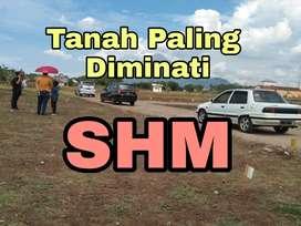Tanah SHM murah jalan nol aspal padat penduduk