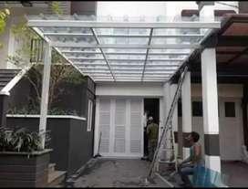 Kanopi minimalis atap spandek transparan 185$#