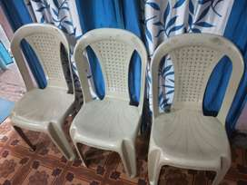 Chairs for dining, drawing room, set of three.