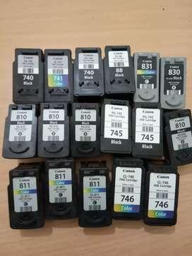 Dibeli cartridge printer Canon bekas dengan berbagai tipe dan jenis