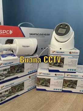 PROMO CCTV PAKET 2 CHANNEL CAMERA FULL SET GARANSI - SIAP PASANG