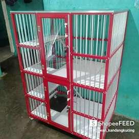 Iwan kandang kucing alumunium full lantai