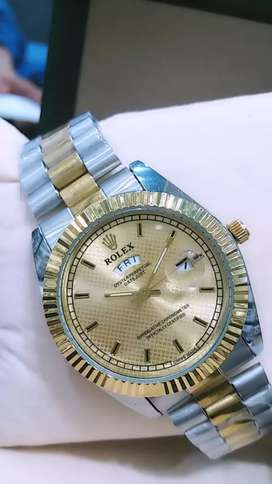 Two Tone Watch With Day & Date