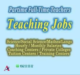 PARTIME FULL TIME TEACHERS