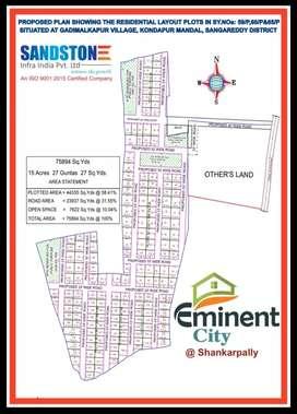 Open plots at shankarapally dtcp layout