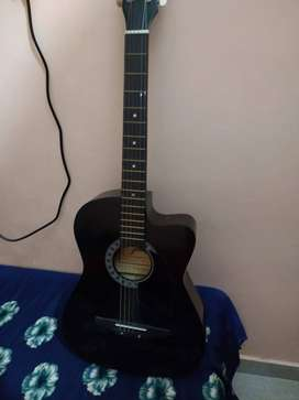 Jixing Acoustic Guitar,Black,Used 2 Month