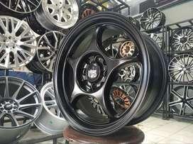 Velg Mobil Racing Ring 15 Hsr Sensi Warna Black Mobil March Vios Brio