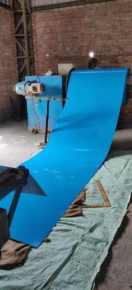Colour coated profile sheet machine
