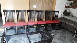 DANING Table and Six chairs
